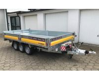 PKW Anhänger Fabrikat Brian James Typ Cargo Tipper 360x195 3,5 t 3 Achser mit E Pumpe, Pendelklappe