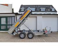 PKW Anhänger Fabrikat Brian James Typ Cargo Tipper 270x160 2,7 t 2 Achser mit E Pumpe, Pendelklappe