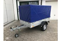 PKW Anhänger Fabrikat TPV, Typ  EU2 mit Plane mit STÜTZRAD